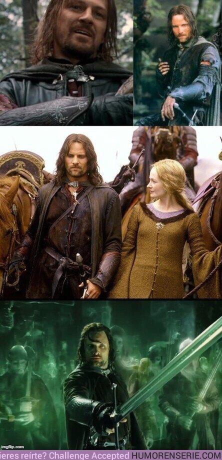 46430 - tras la muerte de Boromir, Aragorn se puso sus brazaletes como forma de honrarlo. Los siguió usando durante el resto de la trilogía.
