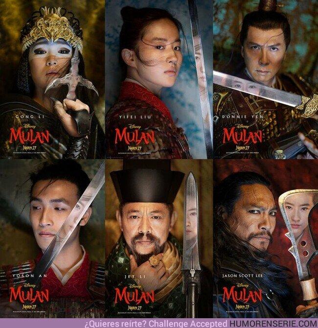 46505 - Primeras imágenes de los protagonistas de Mulan