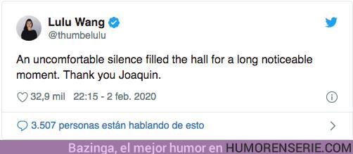 46801 - Así fue el incómodo discurso de Joaquin Phoenix sobre el racismo sistemático al recoger un premio en los BAFTA