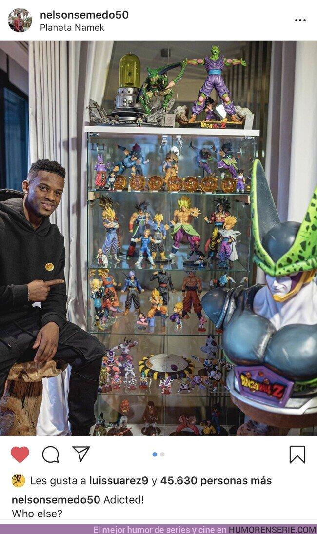 46883 - El jugador del Barça Semedo tiene una bestial colección de figuras de Dragon Ball