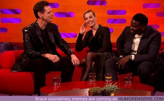 46931 - Así fue el bestial trolleo de Jim Carrey a Margot Robbie en un programa de televisión
