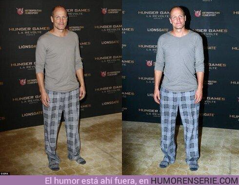 47387 - Mi animal espiritual para 2020 es Woody Harrelson en pijama en el estreno de Los Juegos del Hambre