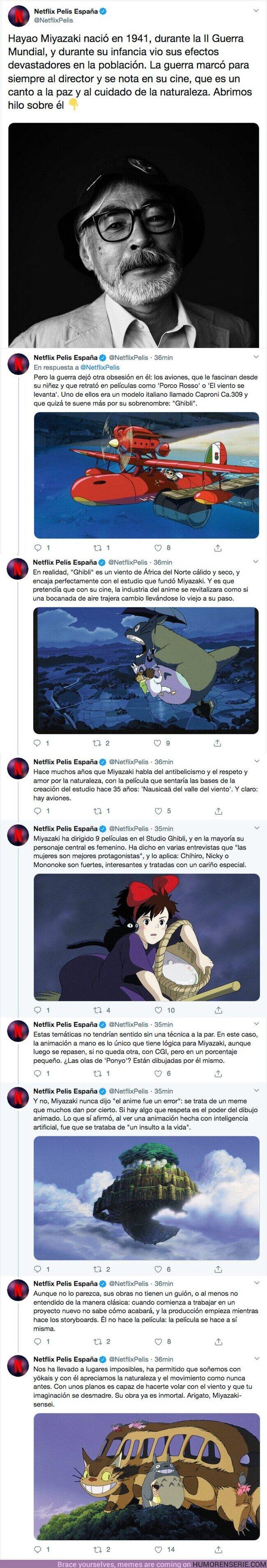 47971 - Hablamos de Hayao Miyazaki y la influencia de la II Guerra Mundial en las pelis Studio Ghibli