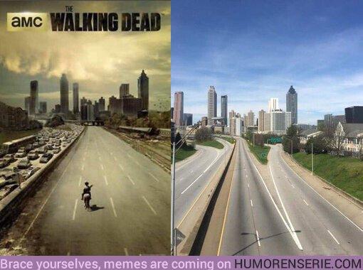 49024 - El coronavirus ha permitido recrear Atlanta vacía como en el póster de TWD