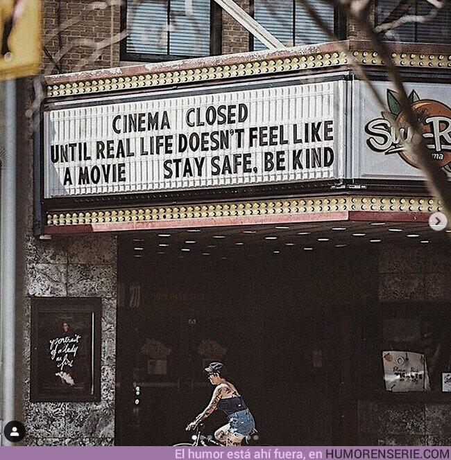 49100 - Los cines cierran hasta que la vida real no parezca una película