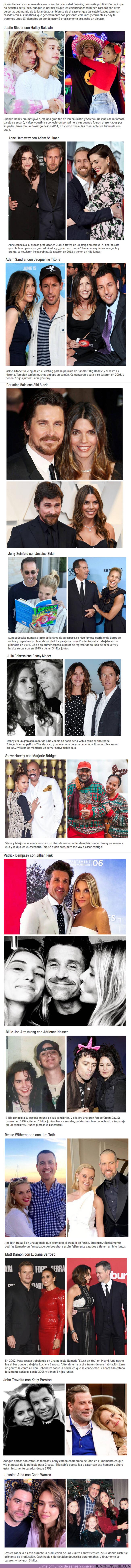 49579 - Aún tienes esperanza: Estos trece famosos se casaron con los fans que les daban la turra