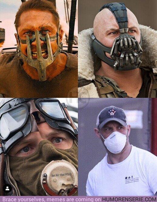 51618 - Tom Hardy es el más acostumbrado a llevar mascarilla