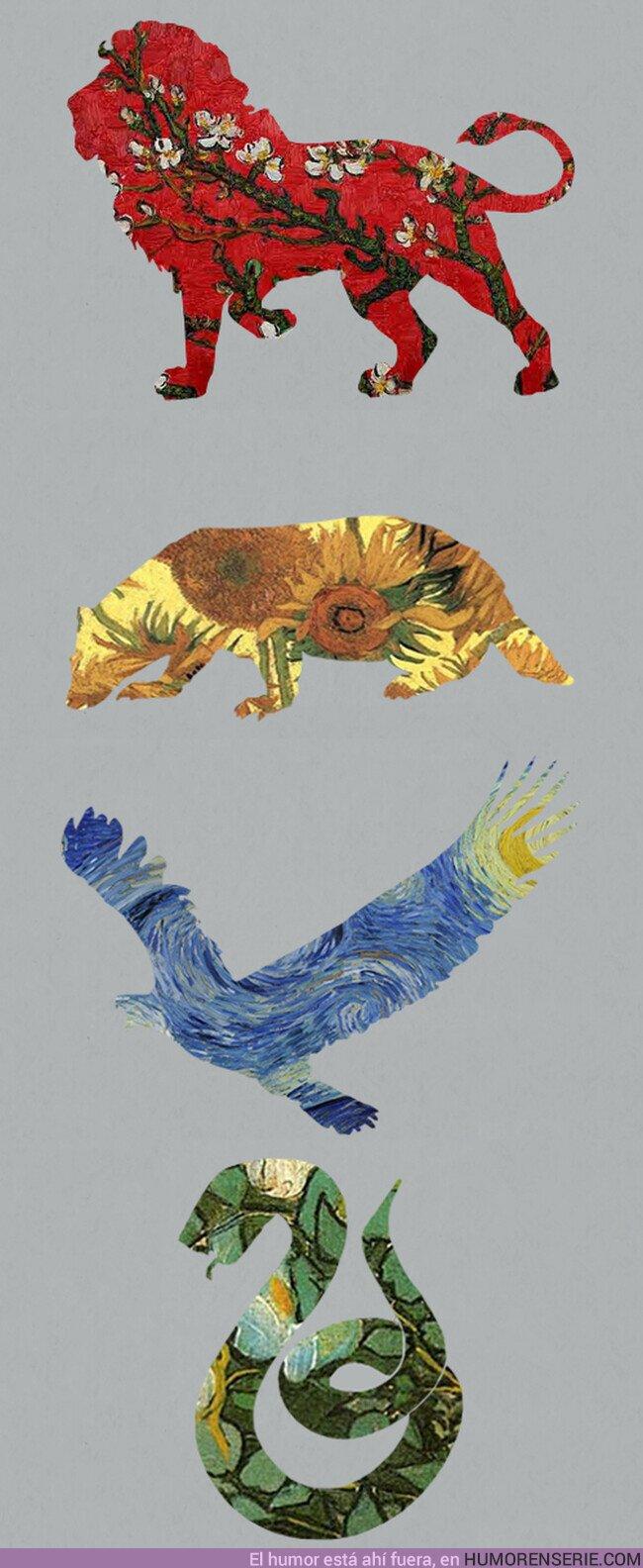 51632 - Alucinante Hogwarts en cuadros de Van Gogh