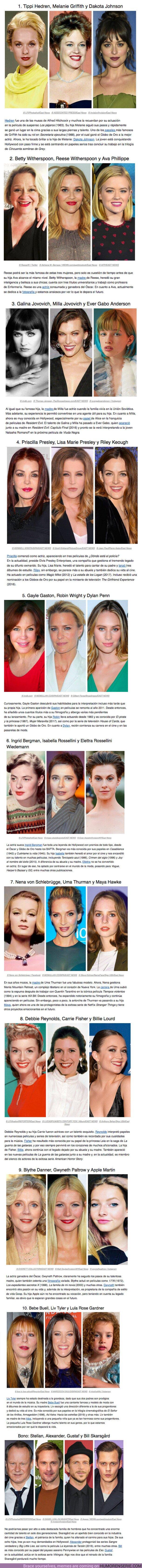 51788 - Once generaciones de actores y actrices que te demuestran la importancia de los genes