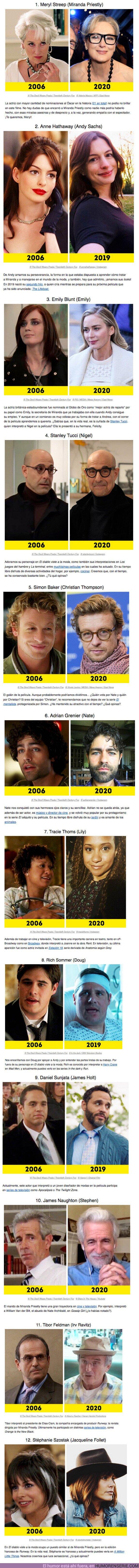 52301 - GALERÍA: Así están ahora los actores de El diablo viste de Prada, 14 años después del estreno