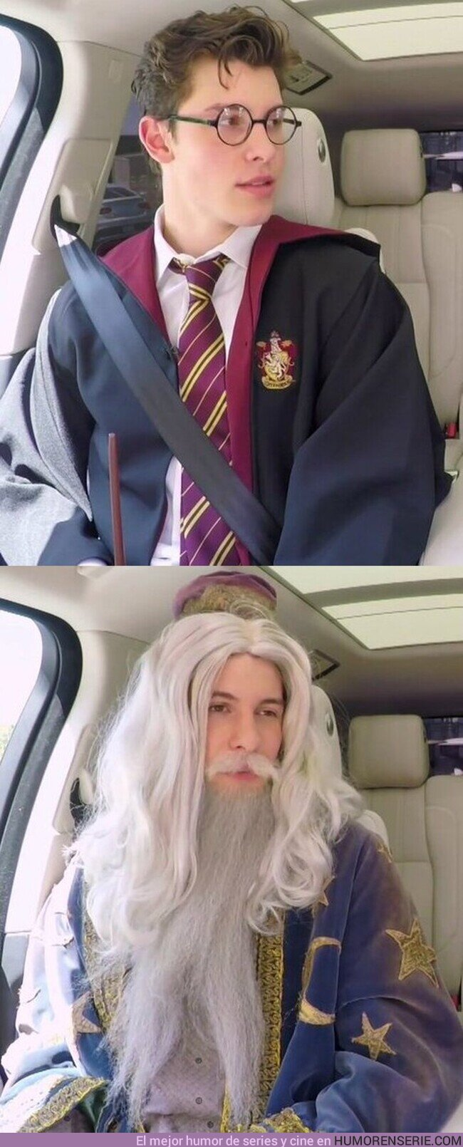 52603 - Shawn Mendes disfrazado de Harry Potter y Albus Dumbledore es lo mejor que verás en mucho tiempo