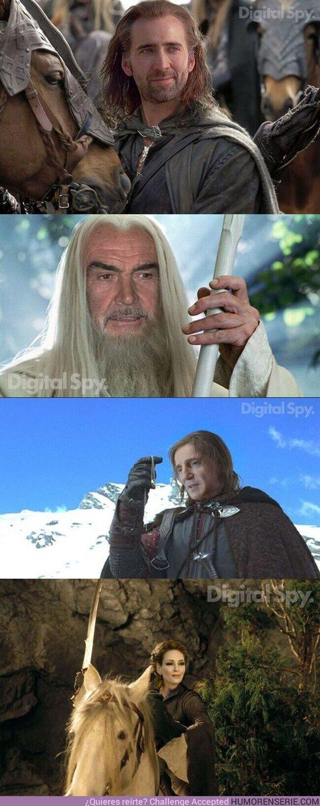 53557 - Así habría sido el cast de The Lord of the Rings si los actores a los que les propusieron el papel hubieran dicho que sí. , por @MultiversoTM