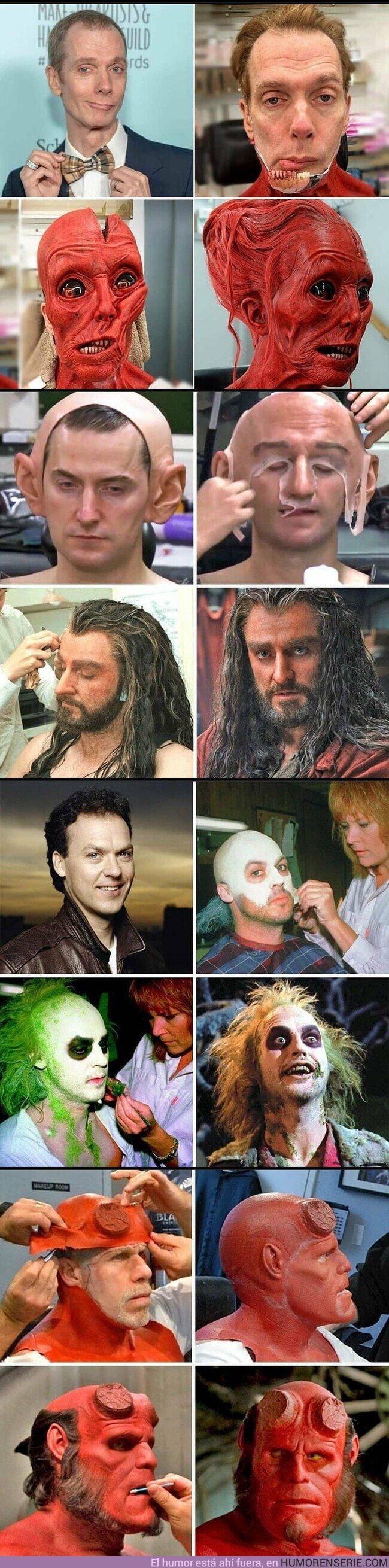53605 - El impresionante antes y después de los efectos de maquillaje en películas de Hollywood