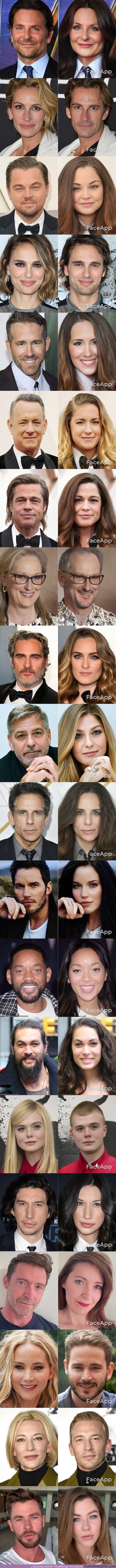 54724 - GALERÍA: Así se verían 20 actores y actrices míticos de Hollywood si cambiaran de género