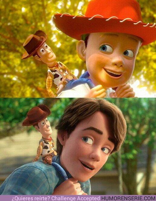 """55013 - Él es Woody, él fue mi amigo desde que tengo memoria. Es valiente, como todo buen vaquero, listo y gentil, pero lo que hace especial a Woody es que jamás te va abandonar, jamás. Él estará contigo pase lo que pase."""""""