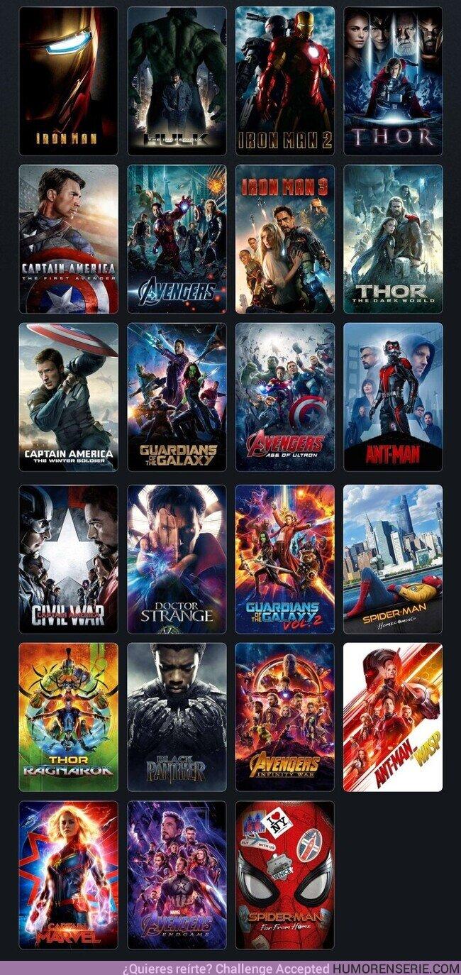 55603 - ¿Cuál es la película de Marvel Studios que habéis visto más veces?