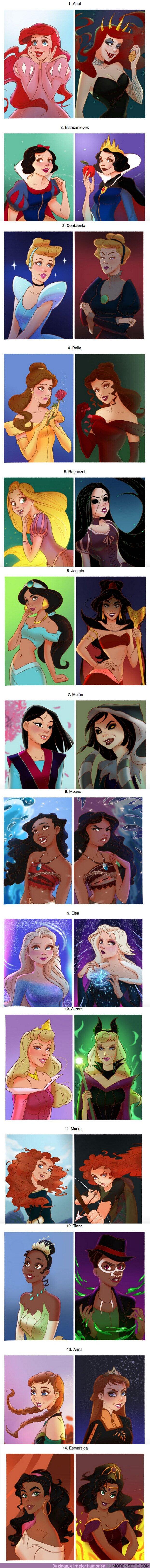 55928 - GALERÍA: Cómo se verían 14 princesas de Disney si fueran las malas de la película