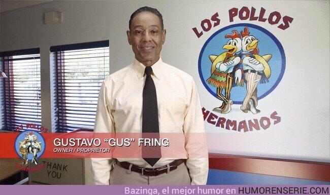 56108 - Este es Gustavo, el propietario de Los Pollos Hermanos, un honrado negocio golpeado por la crisis, ayudemos todos a Gus