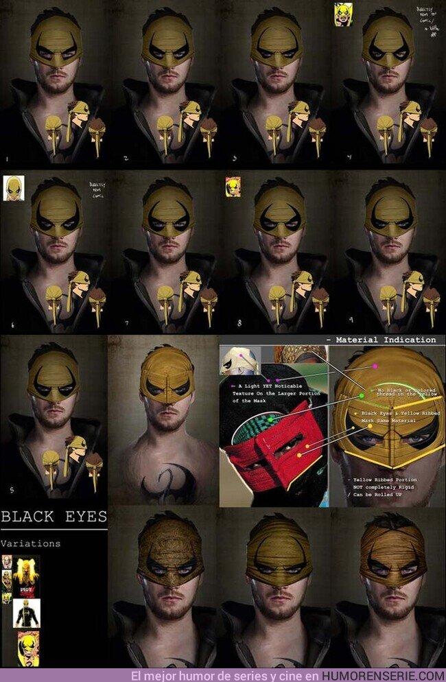 56202 - Joshua James Shaw muestra diseños para la máscara de Iron Fist en la serie, por @Esp_Marvelita