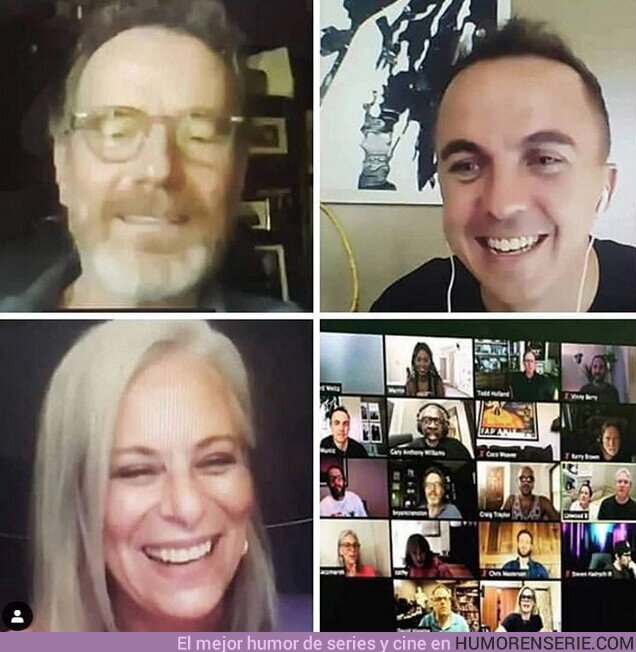 56212 - El elenco de #MalcolmintheMiddle se reunió en una videoconferencia dónde leyeron el guión del primer episodio de la serie para conmemorar los 20 años de su estreno