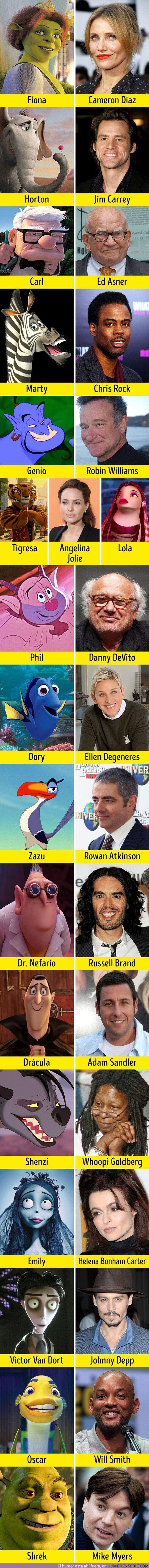 56286 - GALERÍA: Estos 16 actores se parecen mucho a los personajes que doblaron