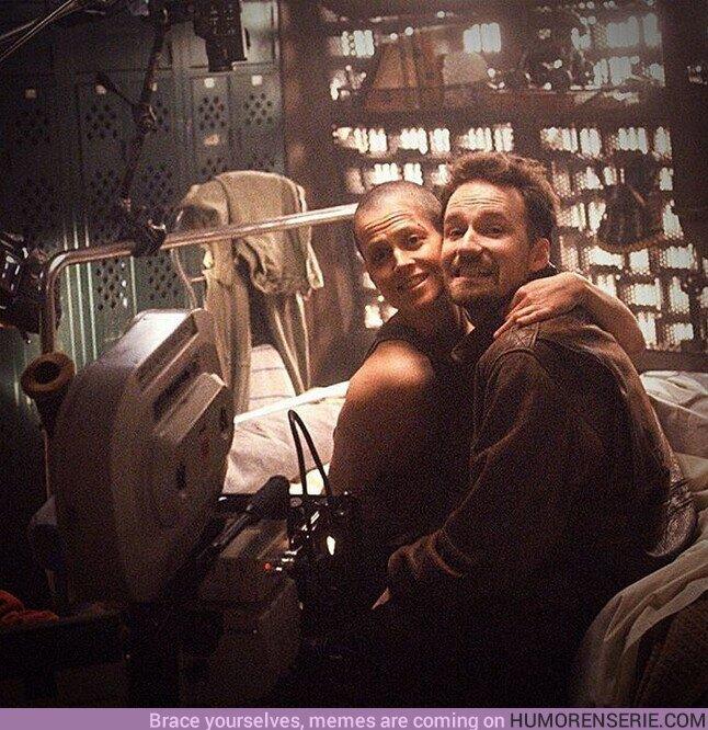 56669 - Sigourney Weaver y David Fincher en el set de