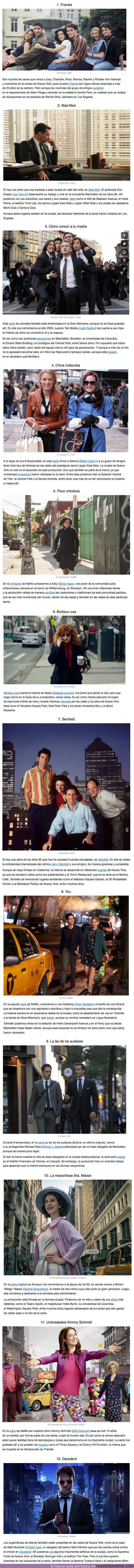 56863 - GALERÍA: 10 Series que fueron filmadas en Nueva York (algunas solo te hicieron creerlo)