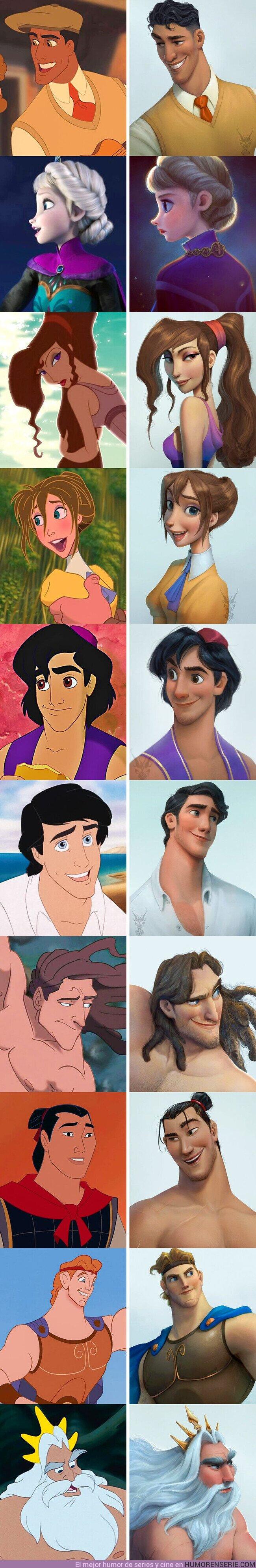 57083 - GALERÍA: Artista les da a personajes de Disney un diseño 3D, lo que los hace parecer sacados de una película del futuro