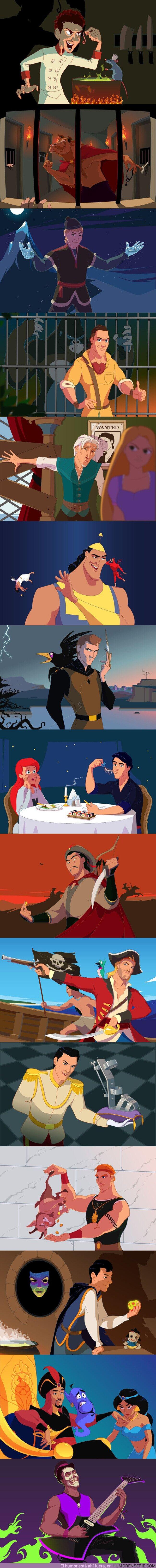 57220 - GALERÍA: Cómo serían los galanes de Disney si fueran los villanos de su película