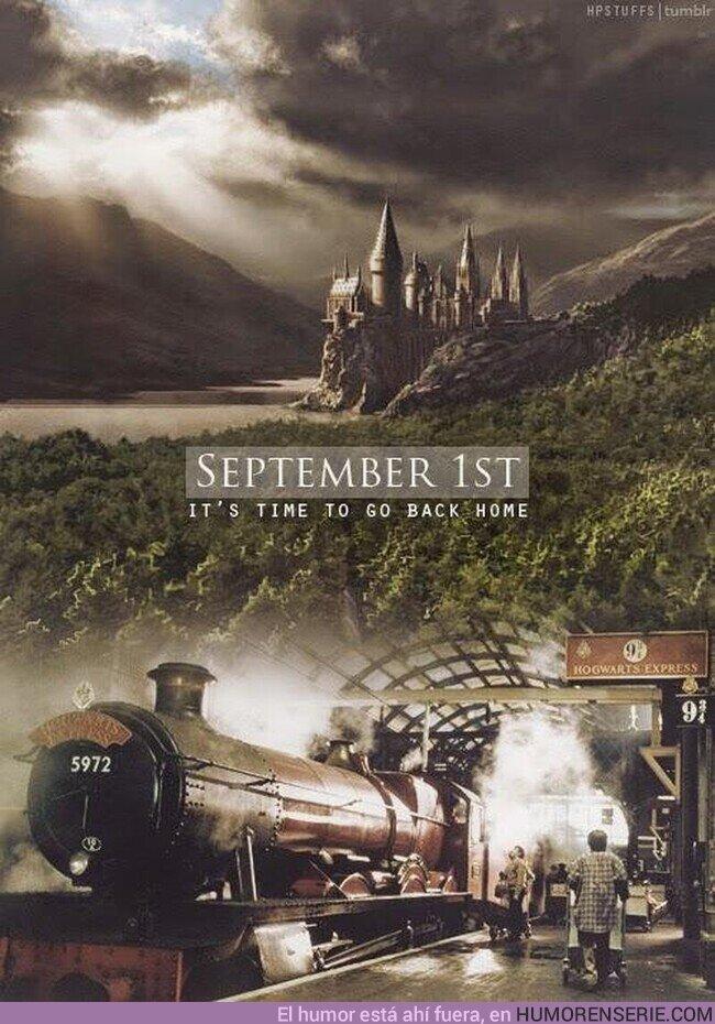 57316 - Hoy es el día. Hoy volvemos a casa, volvemos a nuestro hogar.Volvemos a Hogwarts