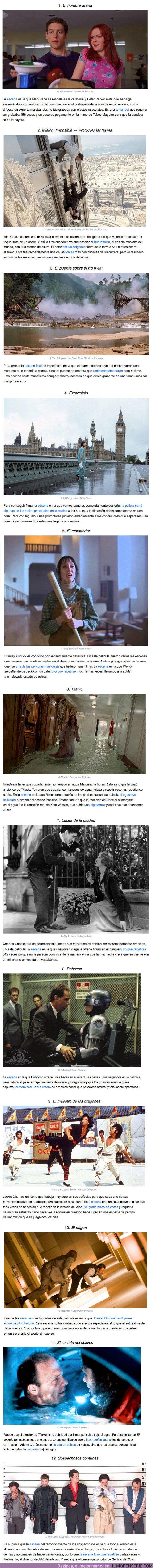 57323 - GALERÍA: 12 Escenas de películas tan complejas de grabar que se convirtieron en un verdadero desafío para los actores