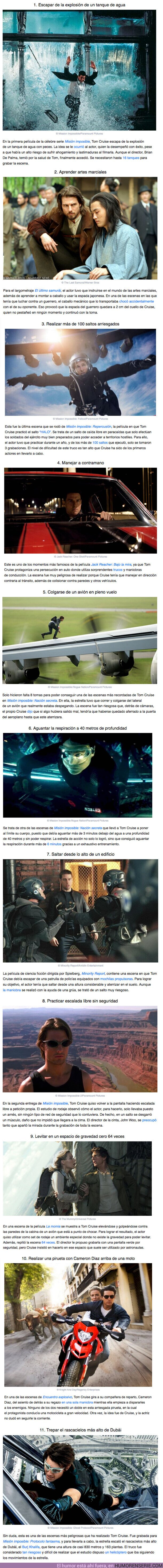 57390 - GALERÍA: 11 Pruebas peligrosas que demuestran que Tom Cruise es un verdadero superhéroe