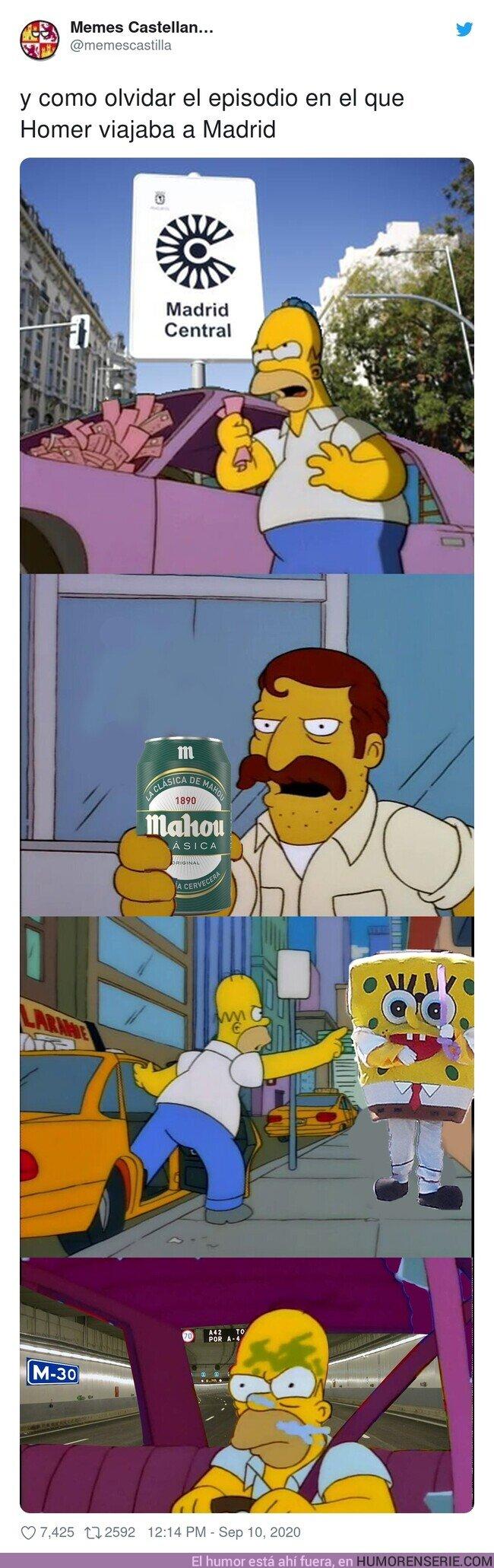 57607 - Homer en Madrid, por @memescastilla