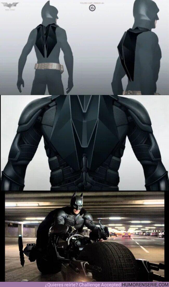 57662 - La capa que quería Nolan en The Dark Knight para que no se enganchara en la rueda de la moto