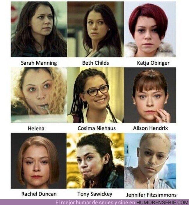 58010 - Nunca es mal momento para reivindicar a Tatiana Maslany. Una actriz de la que se habla muy poco, y que dió vida (a la vez) a un sinfín de personajes de Orphan Black.¡Mucho talento!