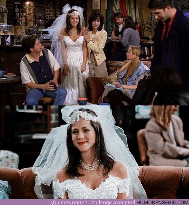 58269 - Hace 26 años, Rachel Green salió corriendo de su boda y entró en Central Perk, el resto ya es historia conocida...