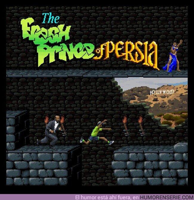 58281 - The Fresh Prince of Persia, el crossover definitivo de 8 bits. Por @Jimllpaintit
