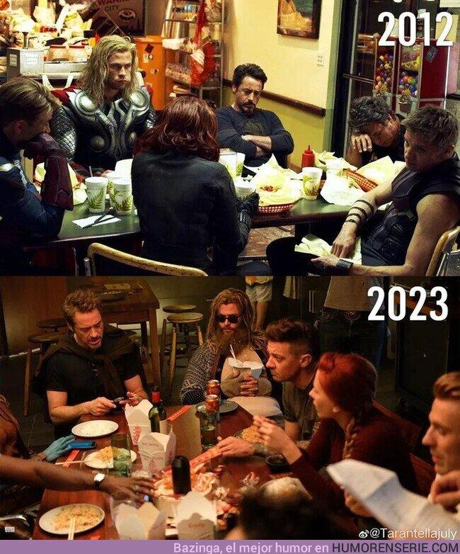 58446 - Los Vengadores cenando juntos desde 2012