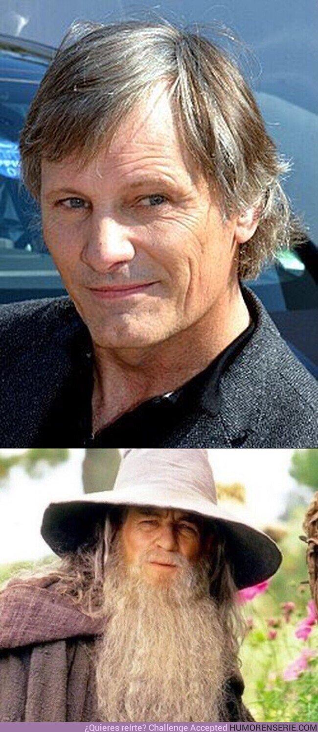 """58463 - Viggo Mortensen tiene actualmente la misma edad que tenía Ian McKellen cuando interpretó a Gandalf en """"El Señor de los Anillos"""". Por @MultiversoTM"""