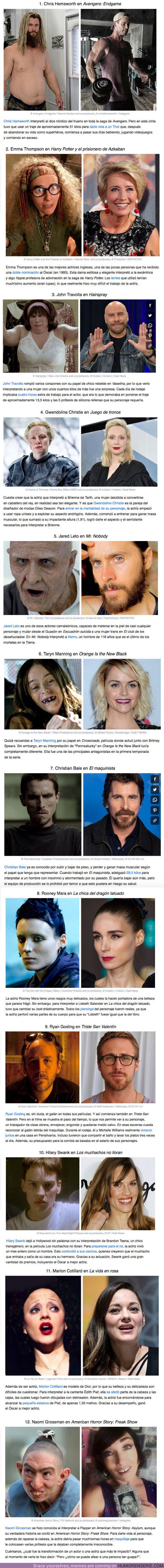 59016 - GALERÍA: 12 Actores que disimularon su belleza para interpretar a un personaje poco agraciado