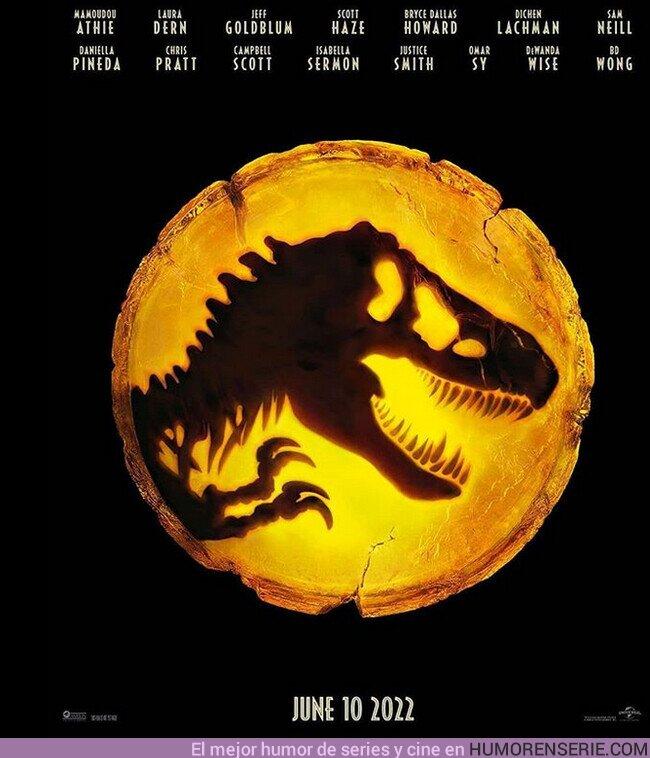 59224 - Primer póster de #JurassicWorldDominion donde podemos ver que su fecha de estreno se ha retrasado un año.