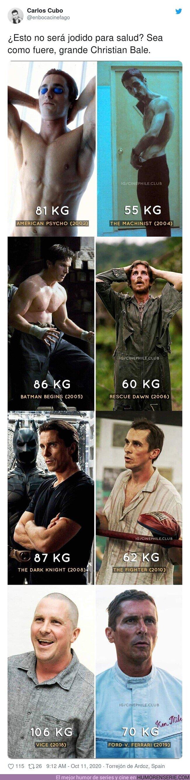 59380 - GALERÍA: Diferencias de peso muy locas en las películas de Christian Bale