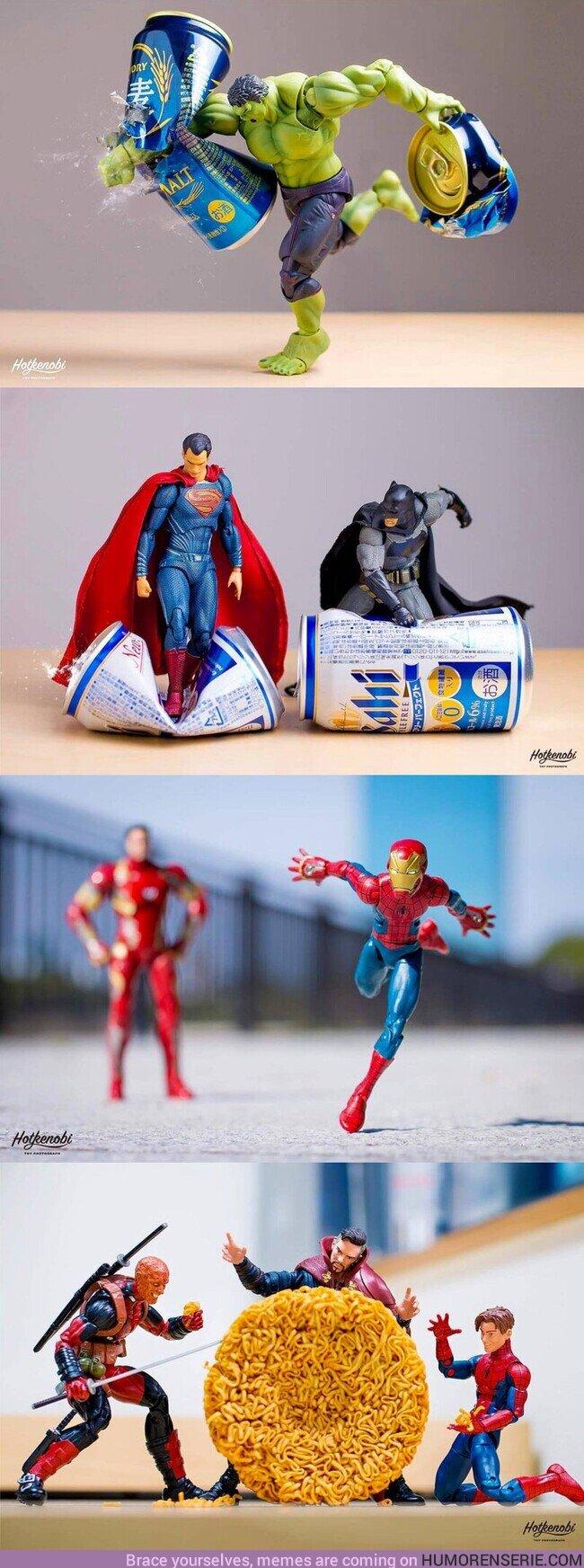 59908 - El fotógrafo japonés Hotkenobi usa las figuras de superhéroes como protagonistas de sus fotografías