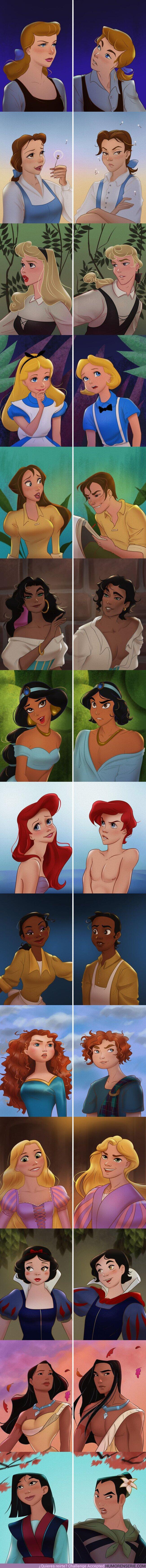60013 - GALERÍA: Imaginamos la versión masculina de 14 chicas de Disney, y algunas se convirtieron en verdaderos galanes