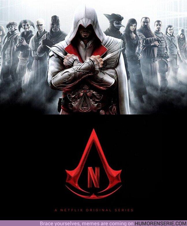 60288 - #Netflix confirma que ya está en desarrollo una serie live-action basada en el famoso videojuego #AssassinsCreed.