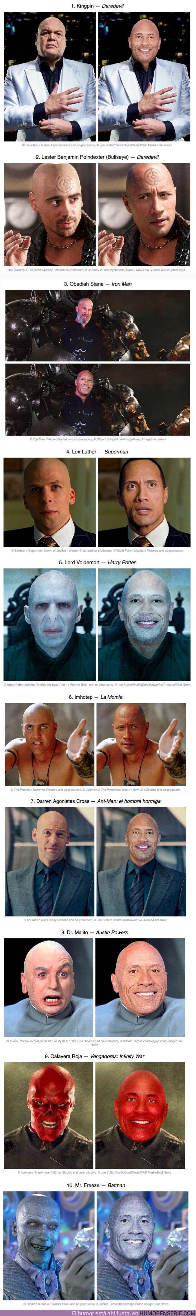 """60338 - GALERÍA: Imaginamos cómo lucirían 10 villanos si fueran interpretados por Dwayne """"La Roca"""" Johnson y este es el resultado"""