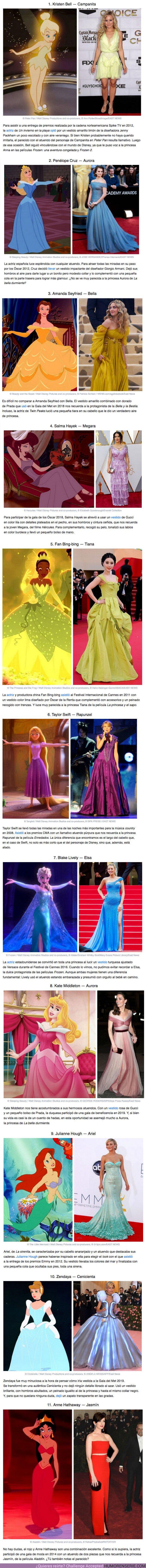 """60393 - GALERÍA: 11 Famosas cuyos """"looks"""" en la alfombra roja nos recuerdan a las princesas de Disney"""