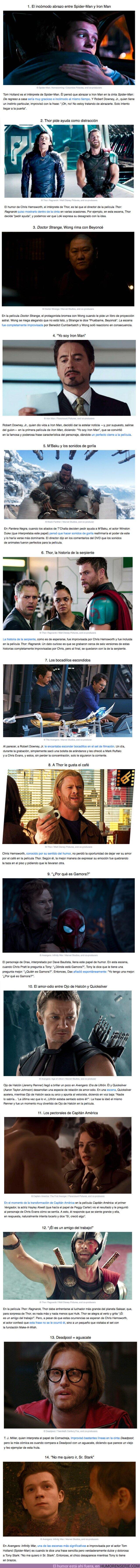 60753 - GALERÍA: 14 Momentos de improvisación de los actores en el universo Marvel que resultaron idóneos para las películas