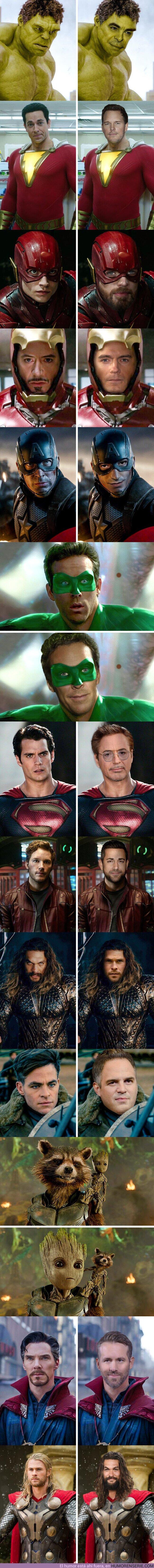 60776 - GALERÍA: Imaginamos cómo lucirían 12 superhéroes de Marvel y DC si intercambiaran papeles