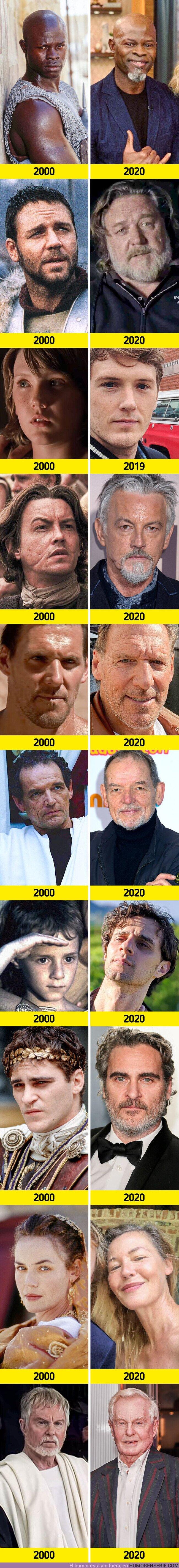 """60925 - GALERÍA: Así lucen 10 actores de la película """"Gladiador"""" a 20 años de su estreno (y algunos secretos del rodaje)"""